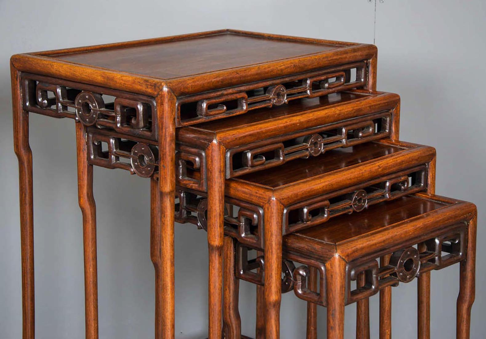 Nest of padouk chinese tables john nicholas antiques nest of padouk chinese tables watchthetrailerfo
